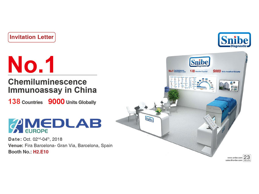 Welcome to visit us at Medlab Europe in Spain,  from Oct.02nd-04th, 2018