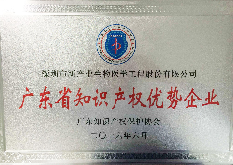 广东省知识产权优势企业