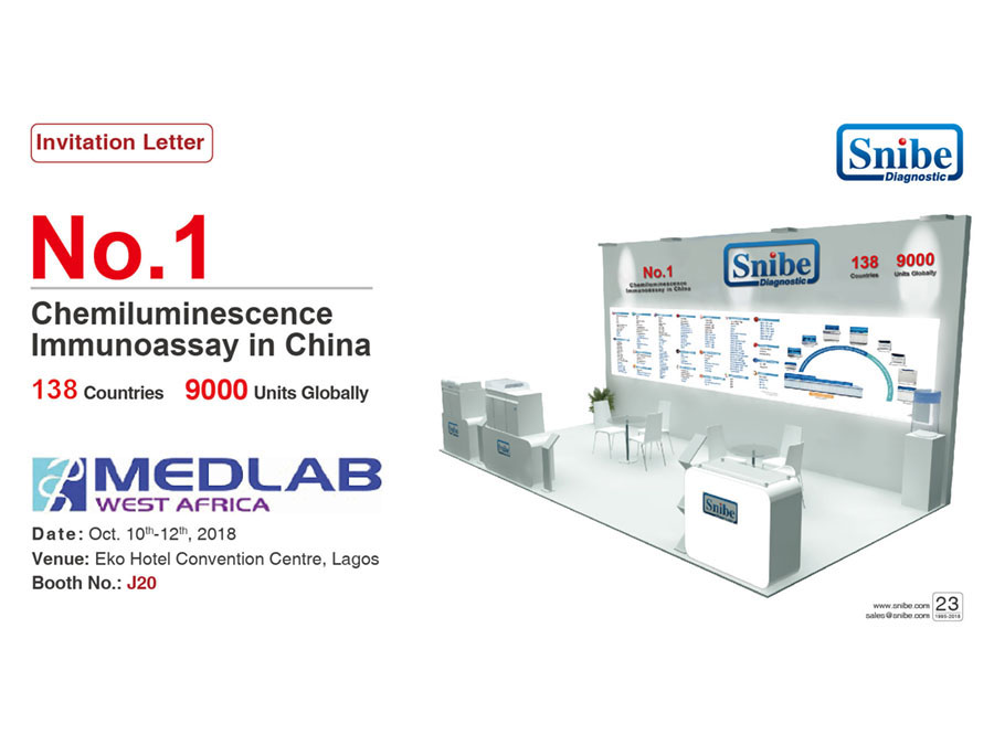 Welcome to visit us at Medlab West Africa in Nigeria, from Oct. 10th-12th, 2018