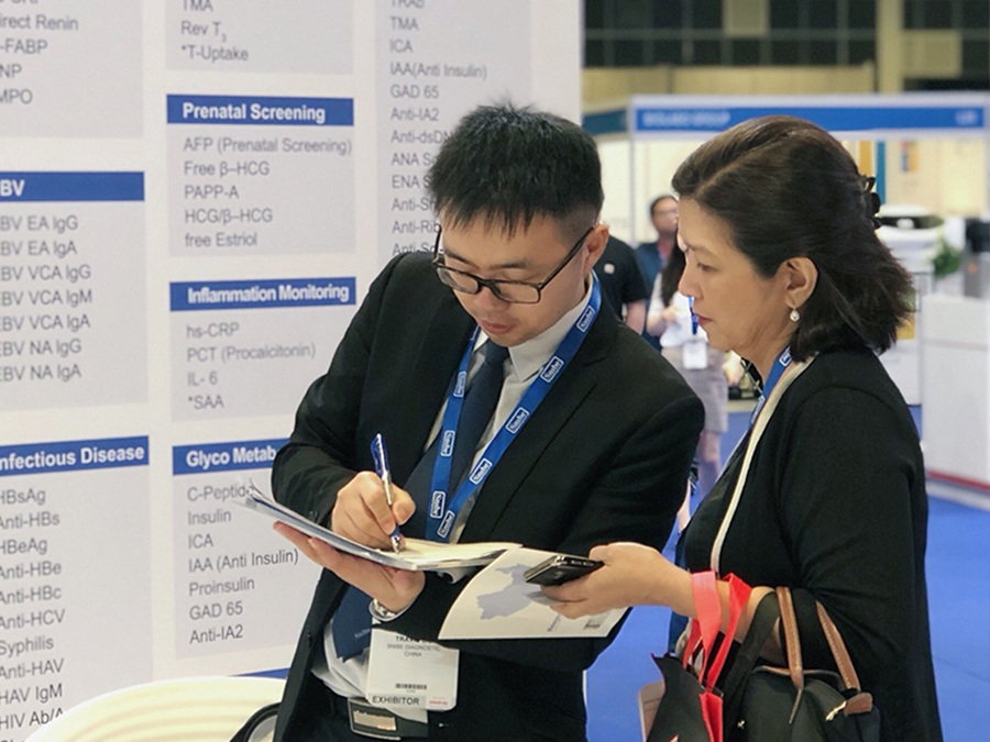 Snibe participated in the Medlab Asia Pacific 2019 as a Diamond Sponsor, Singapore